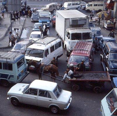 Dopravní zácpa v Káhiře