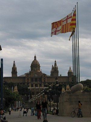 Placa Espana - pohled na Národní museum