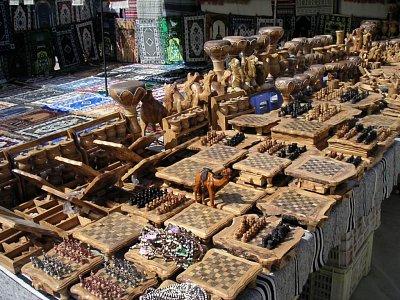 Souk se dřevěnými výrobky