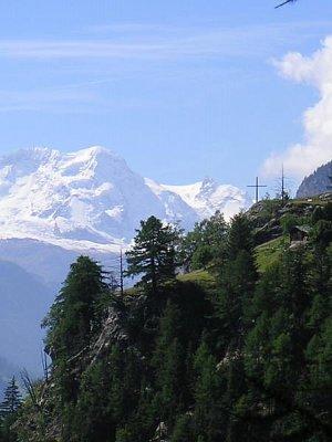 Fotky z Alp ve Švýcarsku