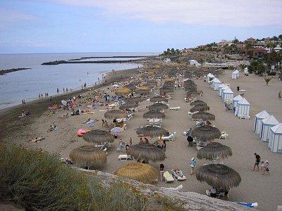 Pláž na Kanárech