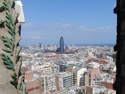 výhled na Barcelonu přímo ze SAGRADA FAMILIA (nahrál: Adam Svoboda)