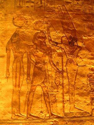 Jeden z reliéfů v Ramessově chrámu (nahrál: admin)