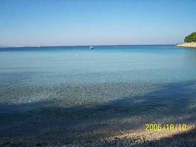 Slanická pláž  - Pláž pod hotelem Colentum na podzim.