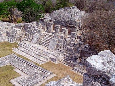 Edzná - pohled z hlavní budovy