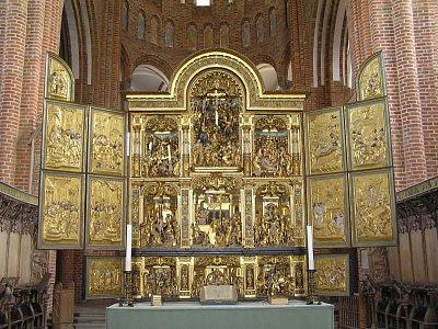 zlatý oltář katedrály v Roskilde (nahrál: admin)
