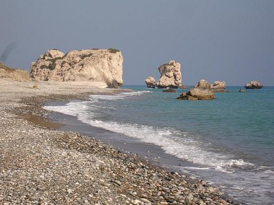 Kypr 5/2007 - pláž, kde Afroditi vystoupila z mořškých vln  (nahrál: Hana Walker)