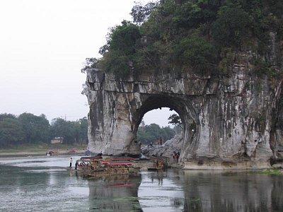 Guilin - část skály Sloního chobotu (nahrál: admin)