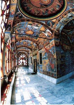 svatá hora Athos - hlavní kaple rumunské skity