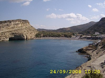 Řecko  Matala - Nádherné prostředí.