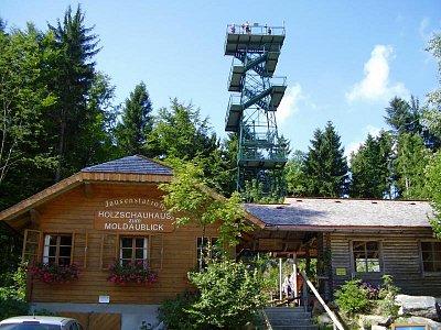 Moldaublick,rozhledna v Horním Rakousku. (nahrál: Jechort)