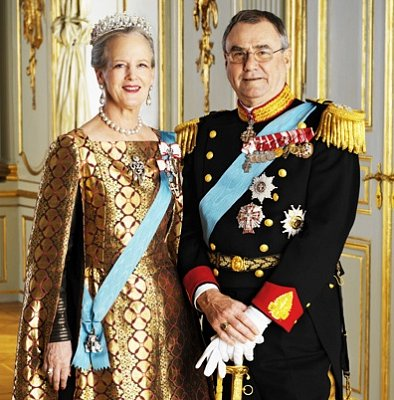 Queen Margrethe and Prince Henrik  - Queen Margrethe II\'s official motto is: The Help of God, the Love of the People, the Strength of Denmark.   (nahrál: Veronika)