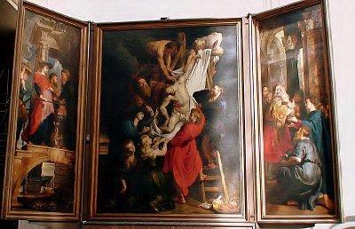 obraz od Paula Rubense - jeden ze tří,uložených v katedrále Panny Marie (nahrál: petras21)