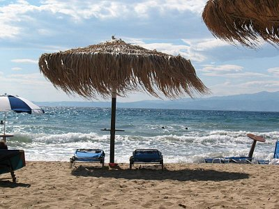 Skala Sotiros - městská pláž