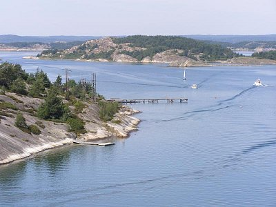silnice 163 z Goteborgu do Tanum - sjet z silnice E6 nádherné pobřeží  (nahrál: josef Vágner)