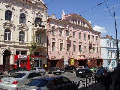 Černivci - hotel Kyjev, ul, Holovna čp. 46   (nahrál: Kamil Hainc)