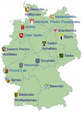 Německo - rozdělení - Zdroj: wikipedia.org (nahrál: admin)