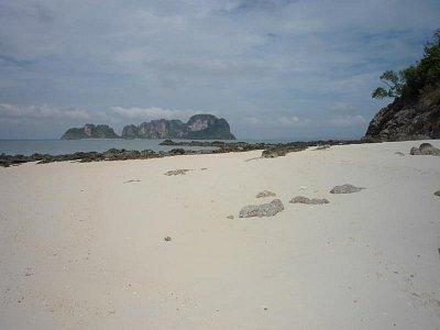 Ostrov Bamboo - Pohled na ostrov Moscito při výletě po okolí (nahrál: Antonín Šťastný)