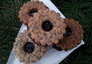 Makové koláčky s povidly - cukroví