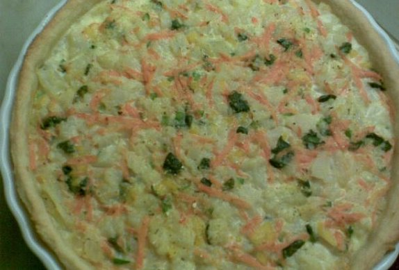 Zeleninový koláč s bramborami