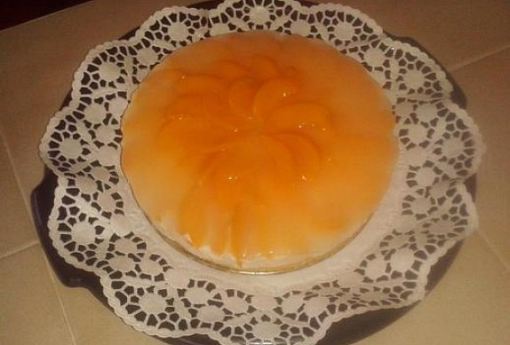 Broskvový dort