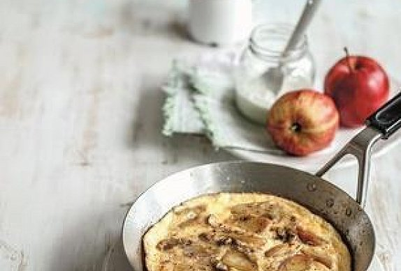 Sladká omeleta s jablky
