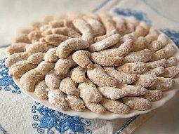 Vanilkové rohlíčky z lískových oříšků