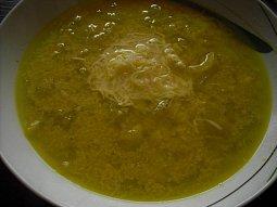 Cibulová polévka se sýrem