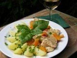Krůta na víně se zeleninou