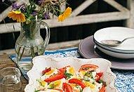 Rajčatový salát s vejci