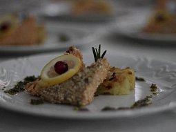 Losos v sezamové krustě