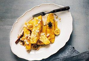 Grilovaný ananas s vanilkovo-pomerančovou omáčkou