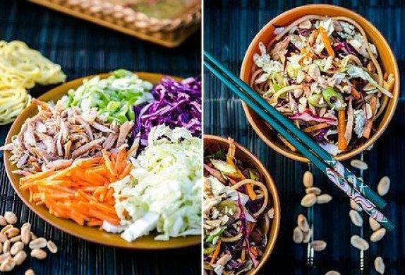 Asijský zelný salát s kuřetem photo-0