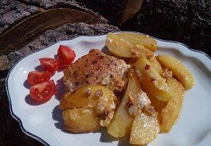 Vepřové kapsy ve smetanových bramborách