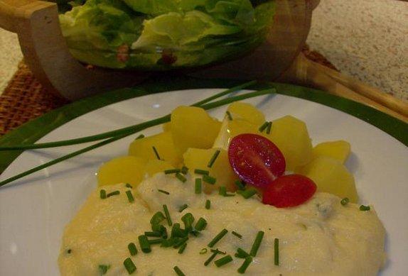 Vajíčková krupice s pažitkou