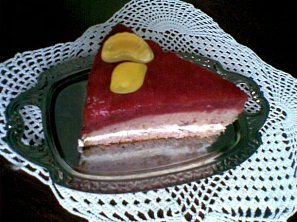 Jahodový dort s tvarohem a želé