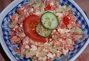 Zeleninový salát s cottage sýrem