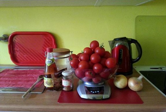 Vaření kečupu