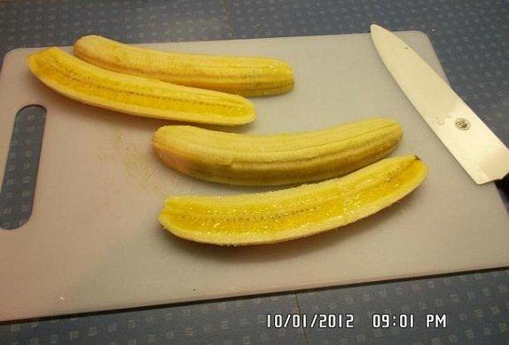Banánovo-jahodový dort