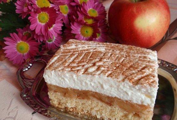 Jablečný krémový sen - řez