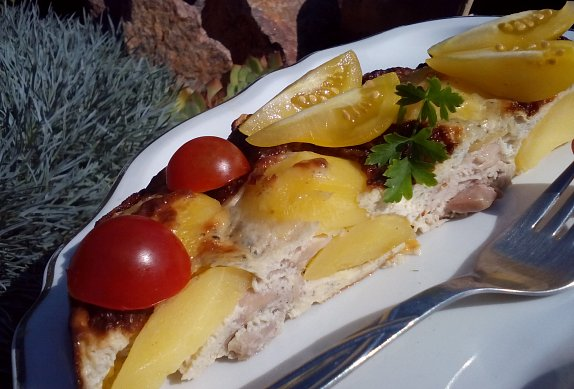 Smetanovo-sýrové kuřecí maso s bramborem