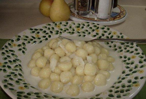 Gnocchi s gorgonzolou a hruškou photo-0