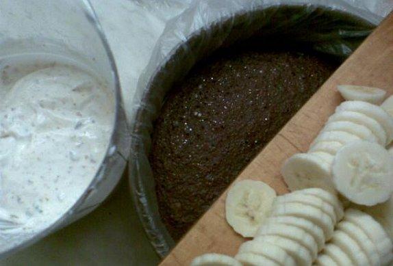 Banánová bleskovka - dort