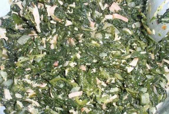 Listové šátečky (závin) se špenátem