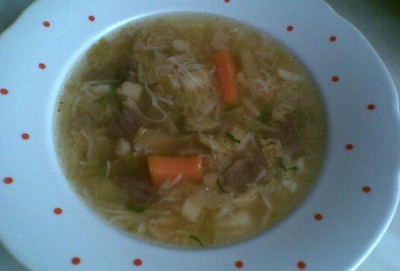 Hovězí polévka s masem - dietní