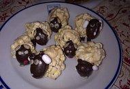 Ovečky z popcornu a marshmallows