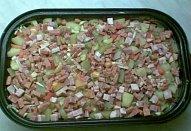Uzeninové brambory s česnekem-zapékané