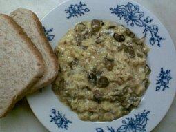Vejce s houbami a sýrem