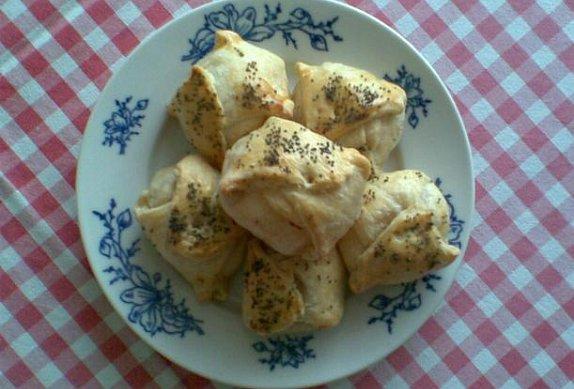 Jablečné koláčky z listového těsta