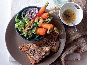 Salát z kapusty s treskou